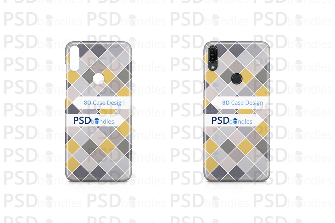 Asus Zenfone Max Pro M1 3d Case Design Mockup Back View 6 Example Image