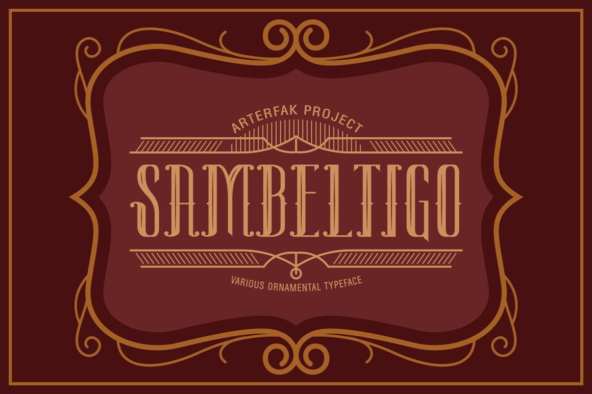 Sambeltigo Typeface example image 1