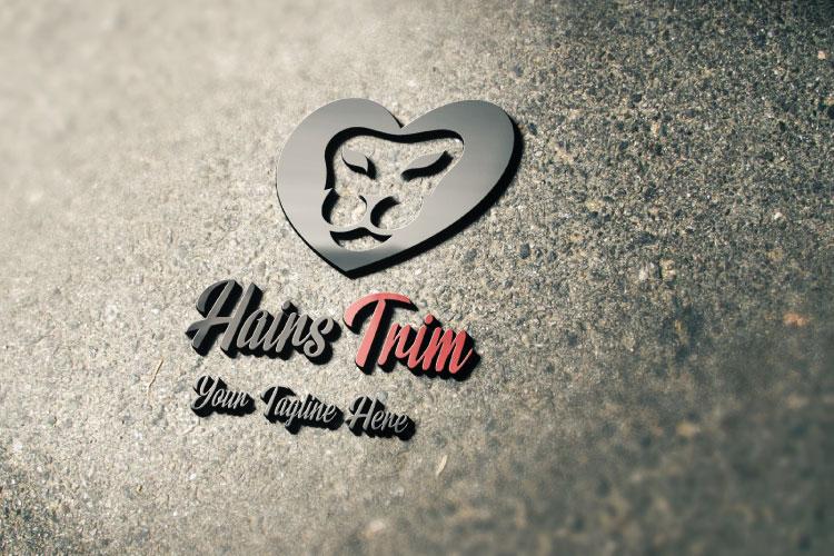 Saloon Heart Shape Logo example image 4