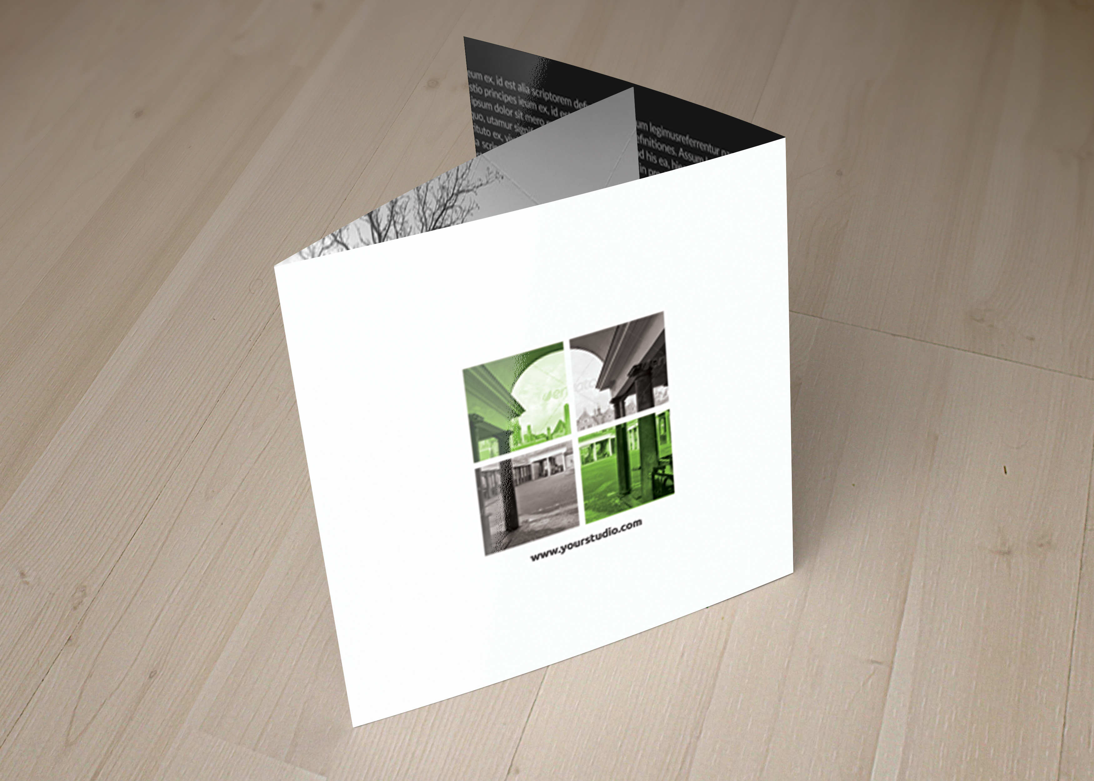 Business Tourist Square Trifold Brochure example image 2