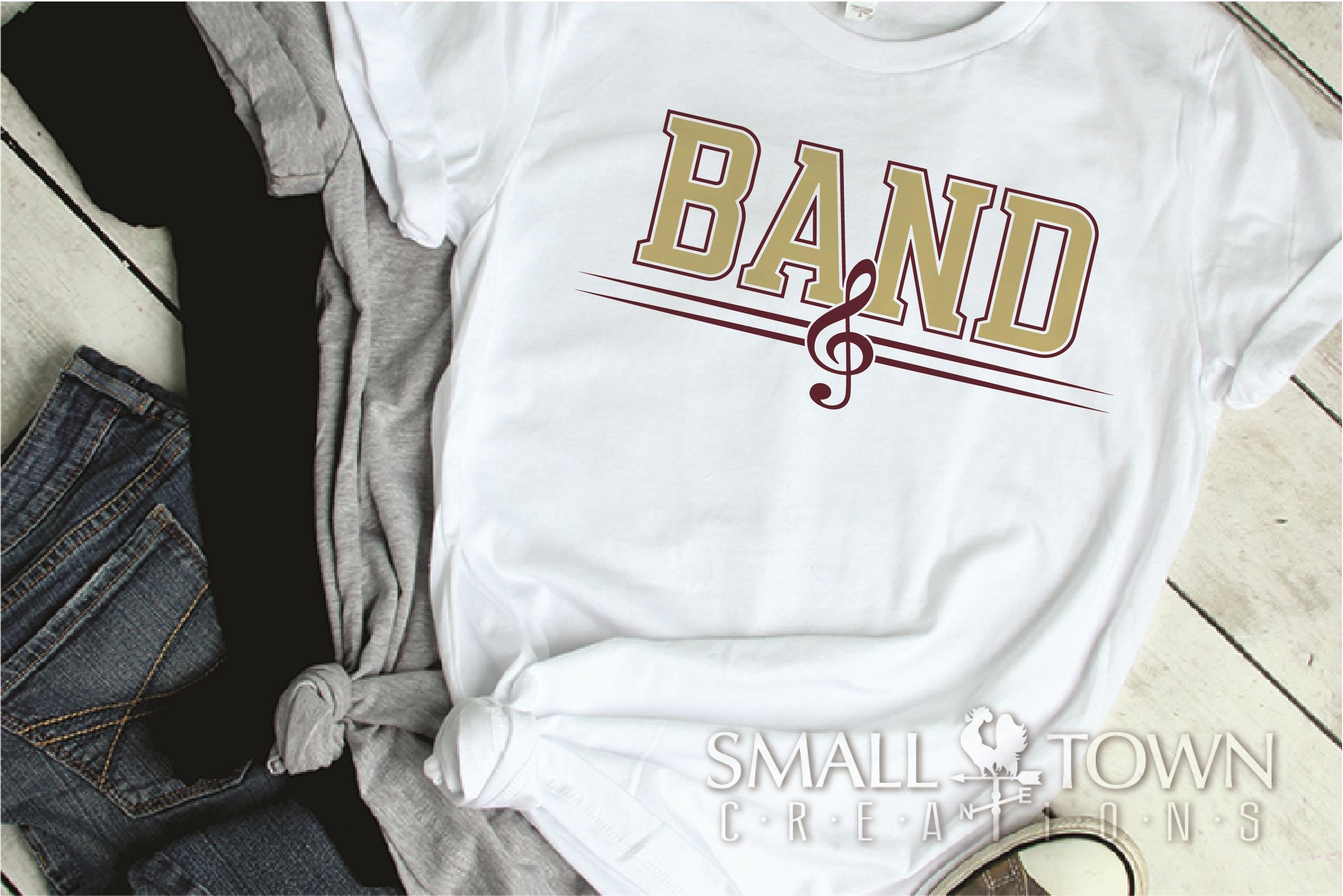 Band, Band logo, Muscial Note, PRINT, CUT & DESIGN example image 2