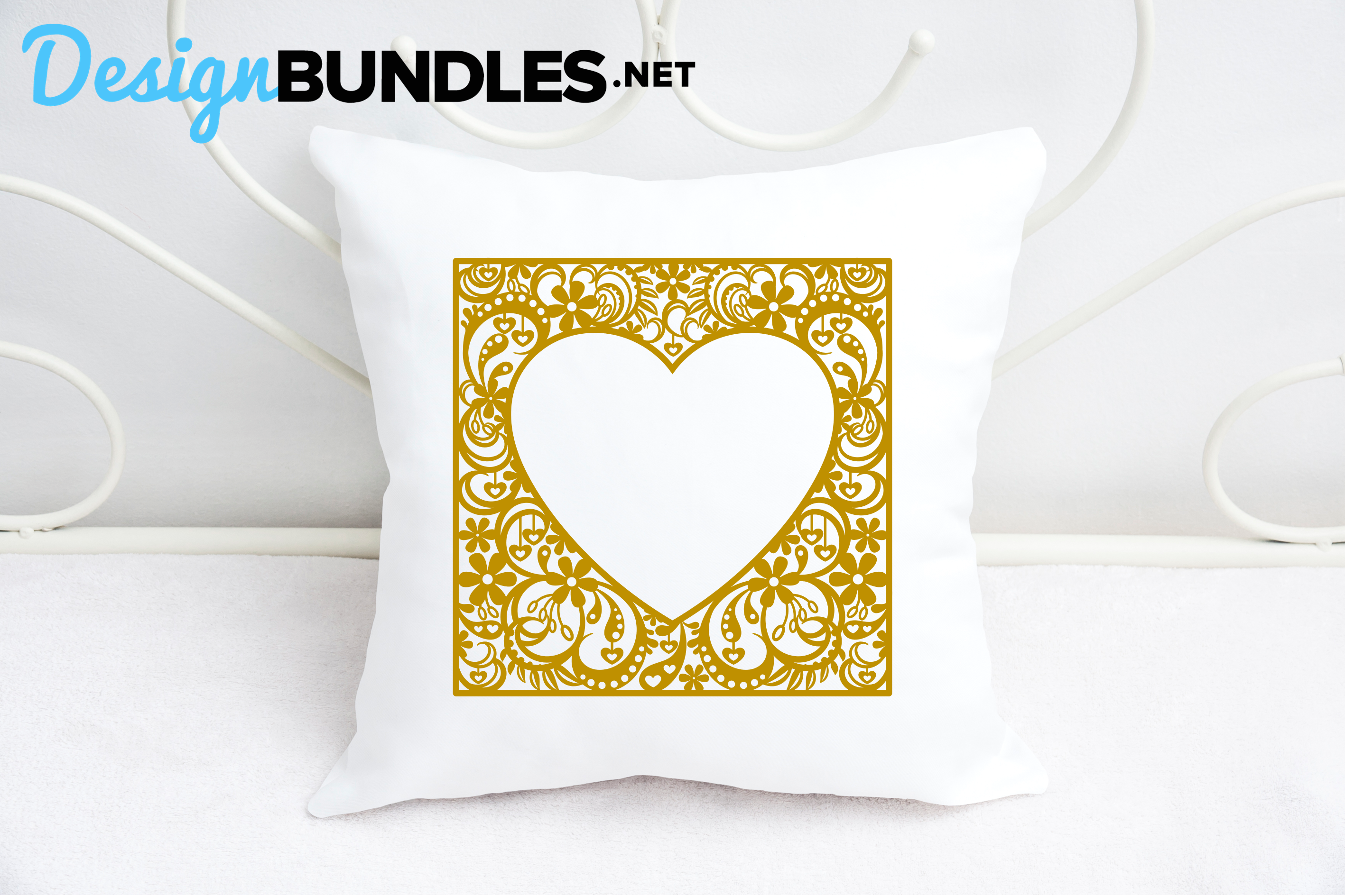 Heart frame paper cut design example image 3