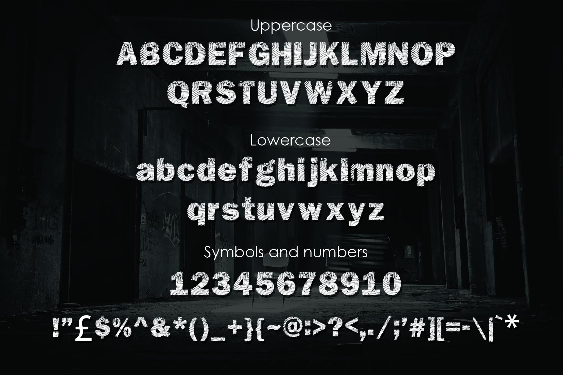 DETECTIVE, a Fingerprint Typeface example image 2