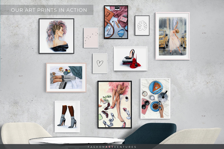 Dancing in the rain - hand-drawn Art print, ballerina art example image 3