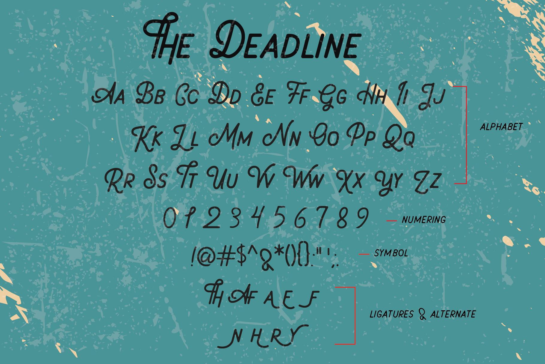 Deadline Font - Sans Serif example image 2