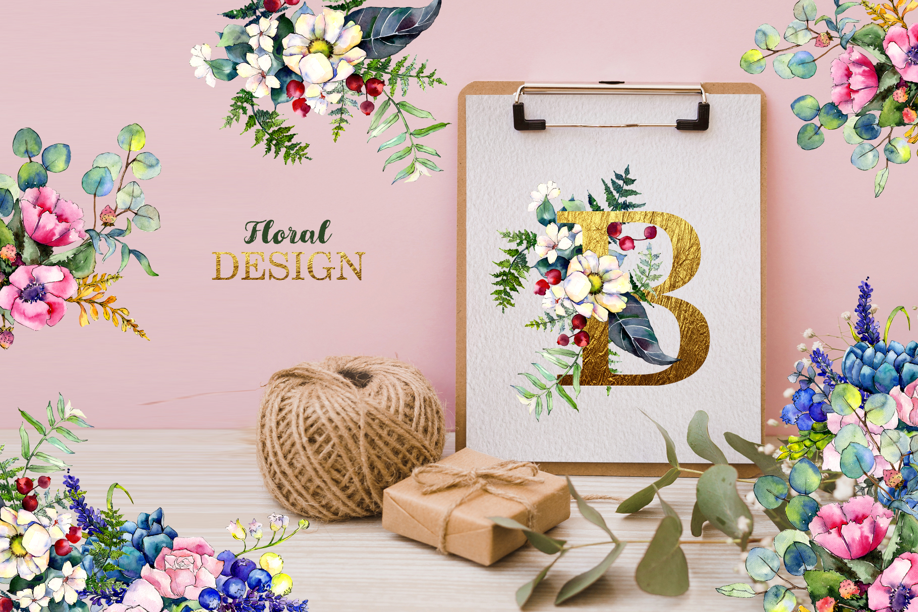Gorgeous Flower Bouquets Watercolor png example image 2