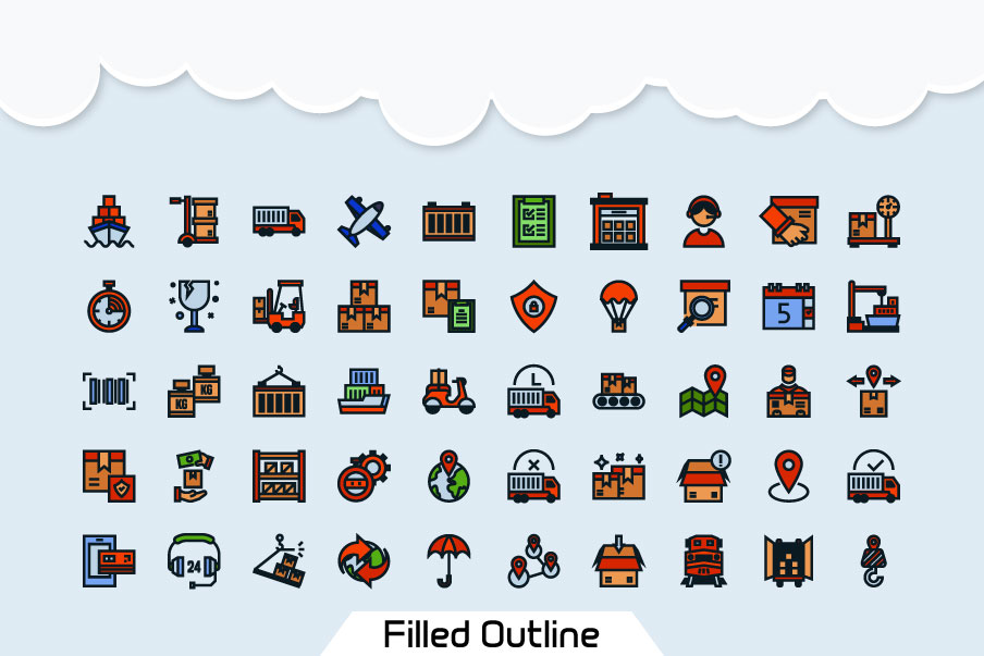 200 Logistic Icon Pack example image 5