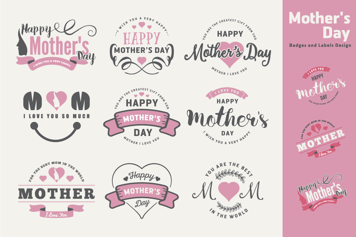 Mother's Day Badges and Labels example image 1