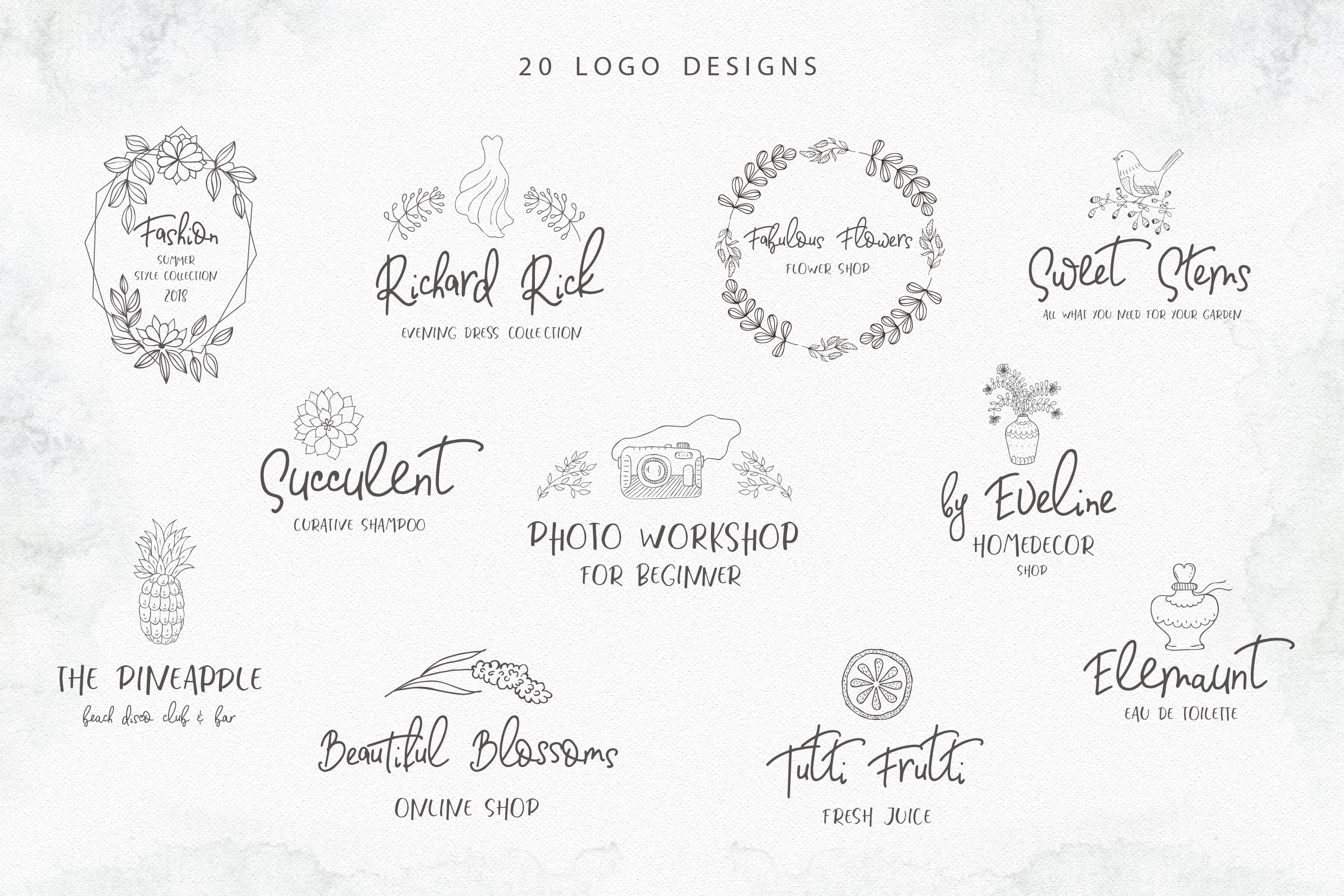 Fashionable Duo Font & Illustrations example image 13
