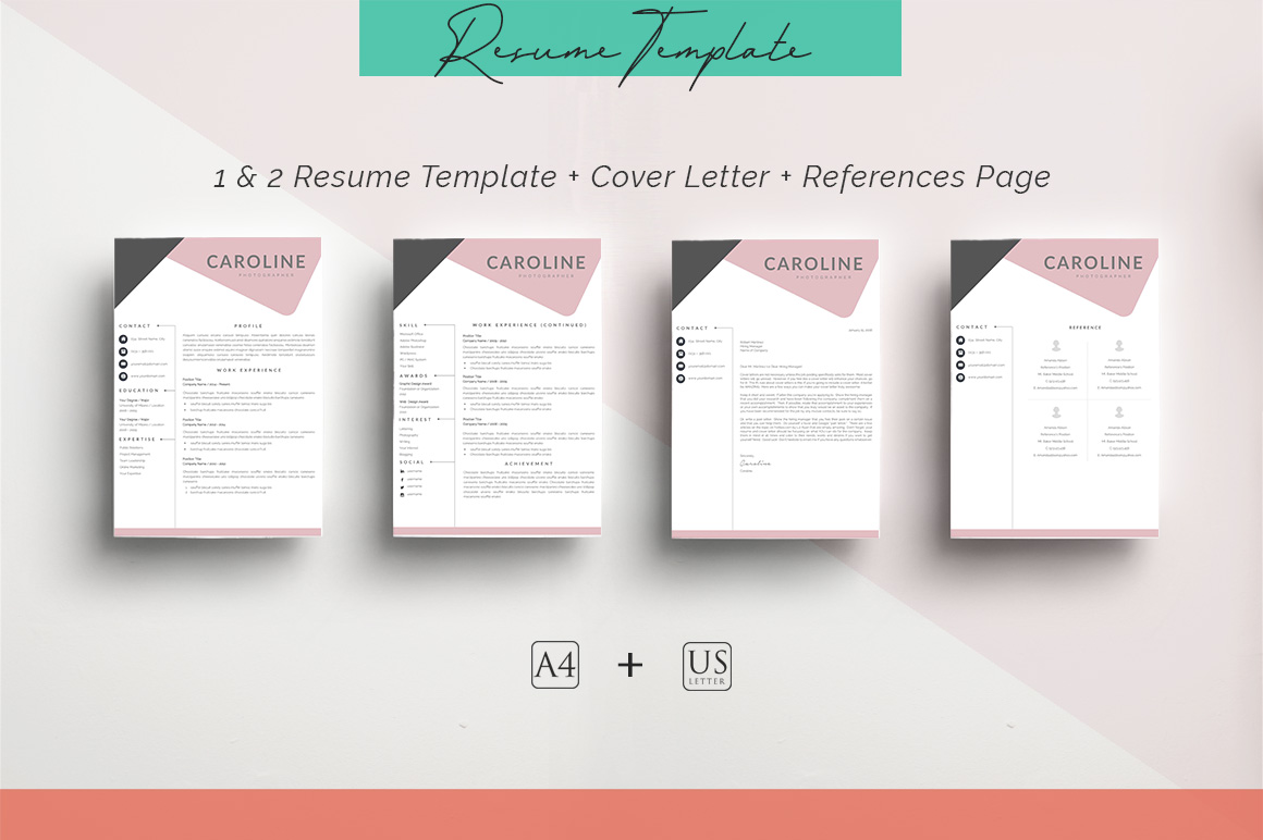 ULTIMATE BUNDLE Resume Template 10 in 1 example image 4