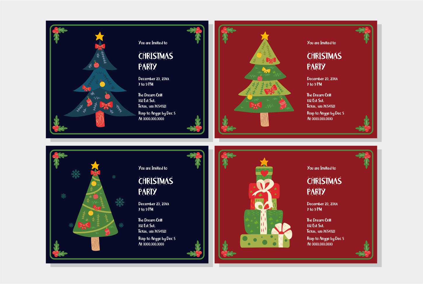 Little Santa Font | merry christmas font | 8 christmas cards example image 4
