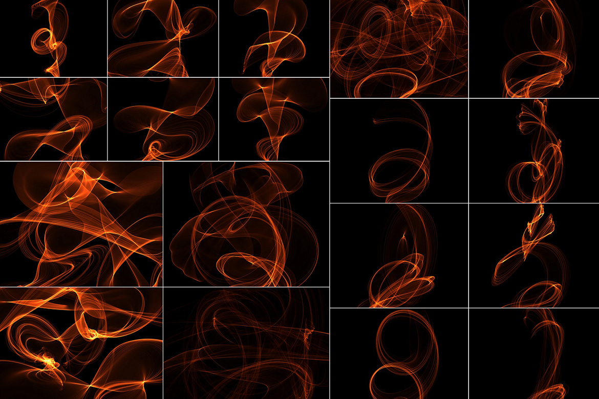 75 Abstract Fire Overlays Vol. 2 example image 3