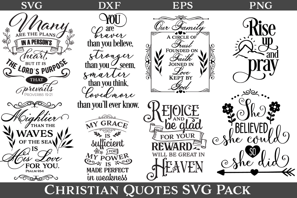 48 Christian Quotes SVG Pack example image 4