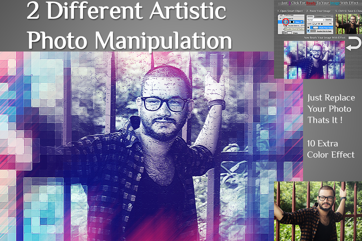 2 Different Artistic With 10 Color Effect Photo Manipulation example image 2