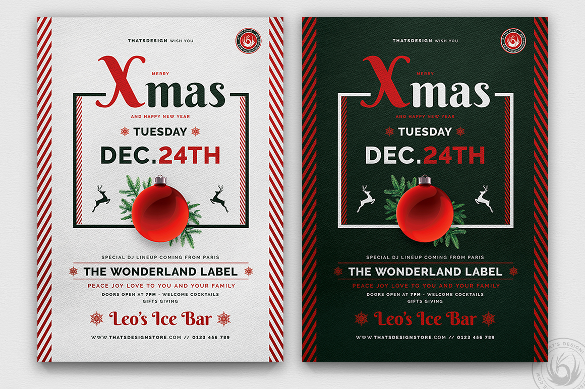 Christmas Eve Flyer Bundle V2 example image 3