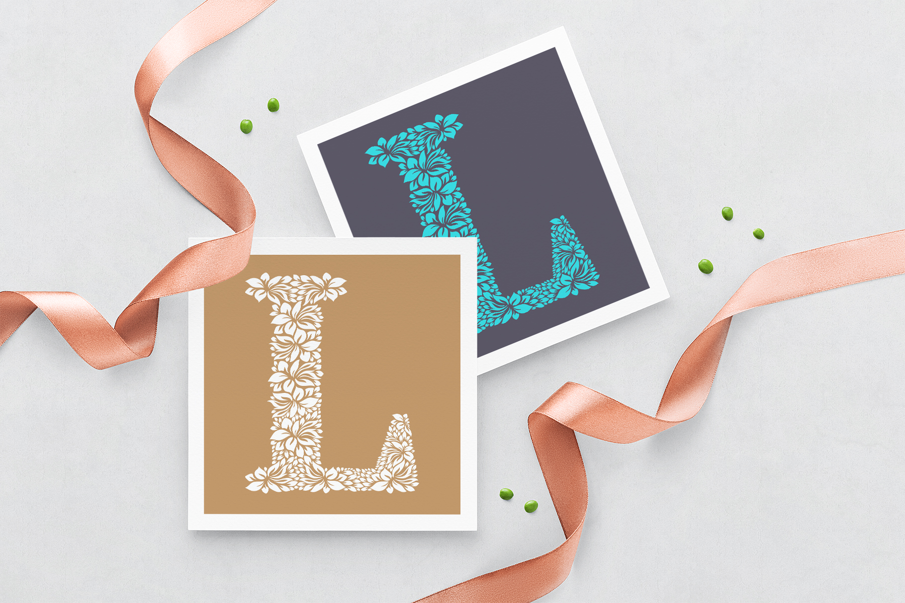 Letter L - Floral Logo Template example image 3