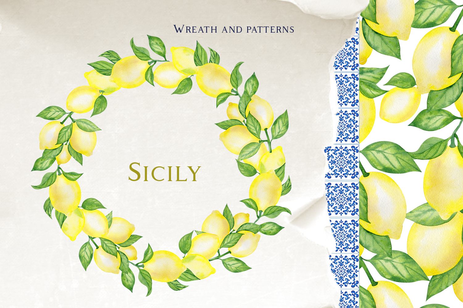Sicily. Ornament and fruits example image 6