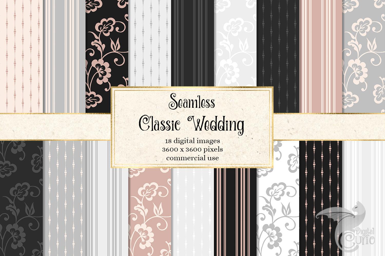 Classic Wedding Digital Paper example image 1