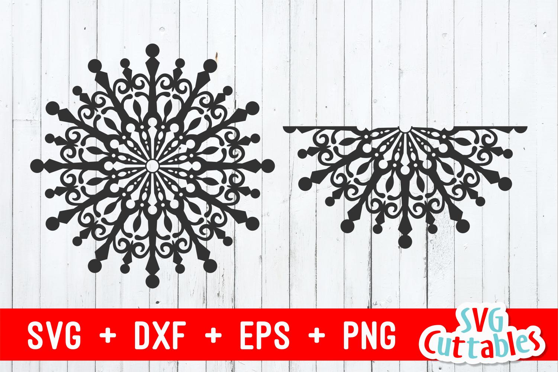 Snowflake Mandala | Christmas Cut File example image 4