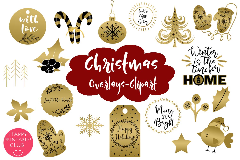 Christmas Overlays-Clipart Bundle-Holiday Overlays Bundle example image 3