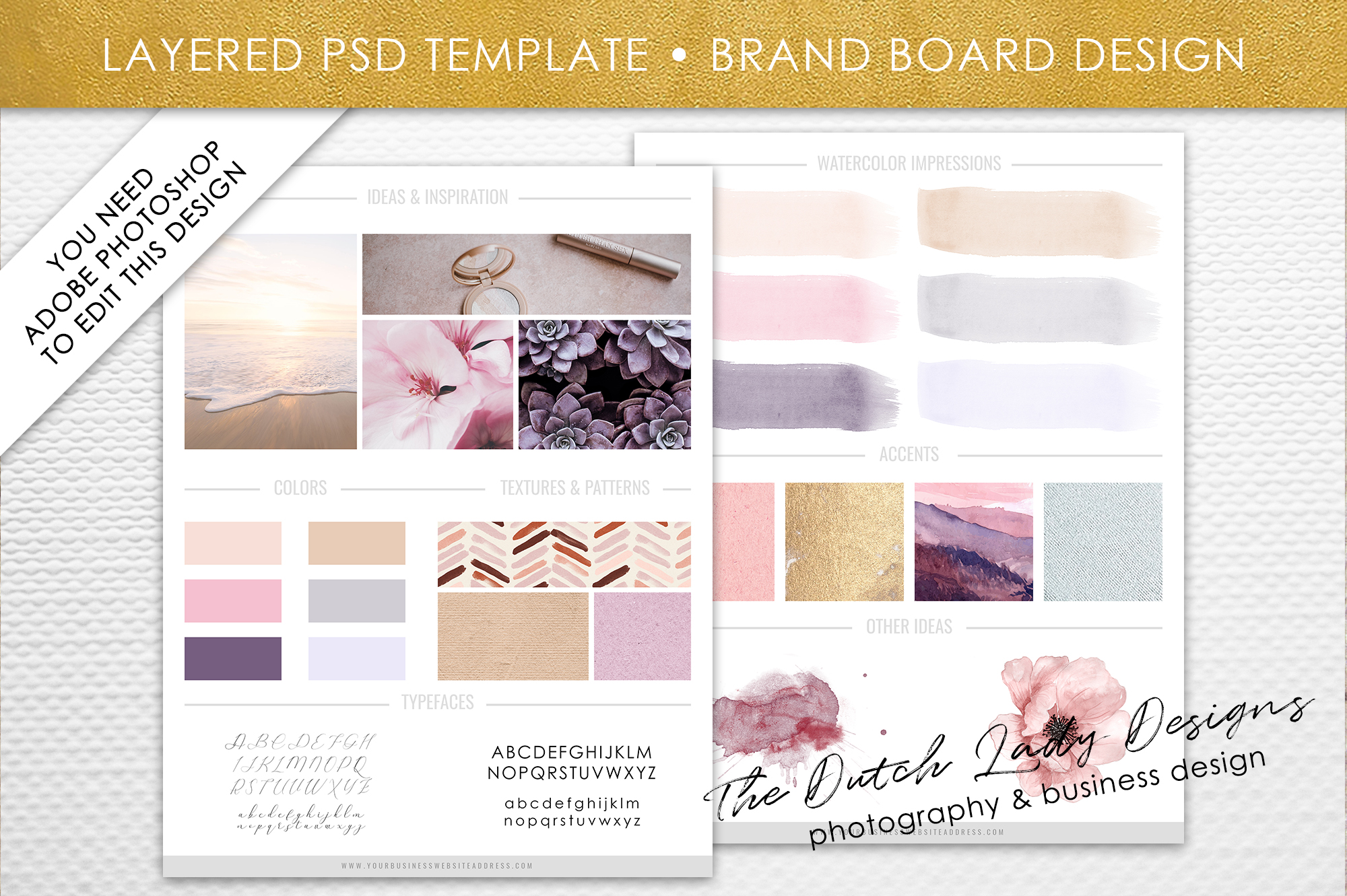 psd brand design board template design 1