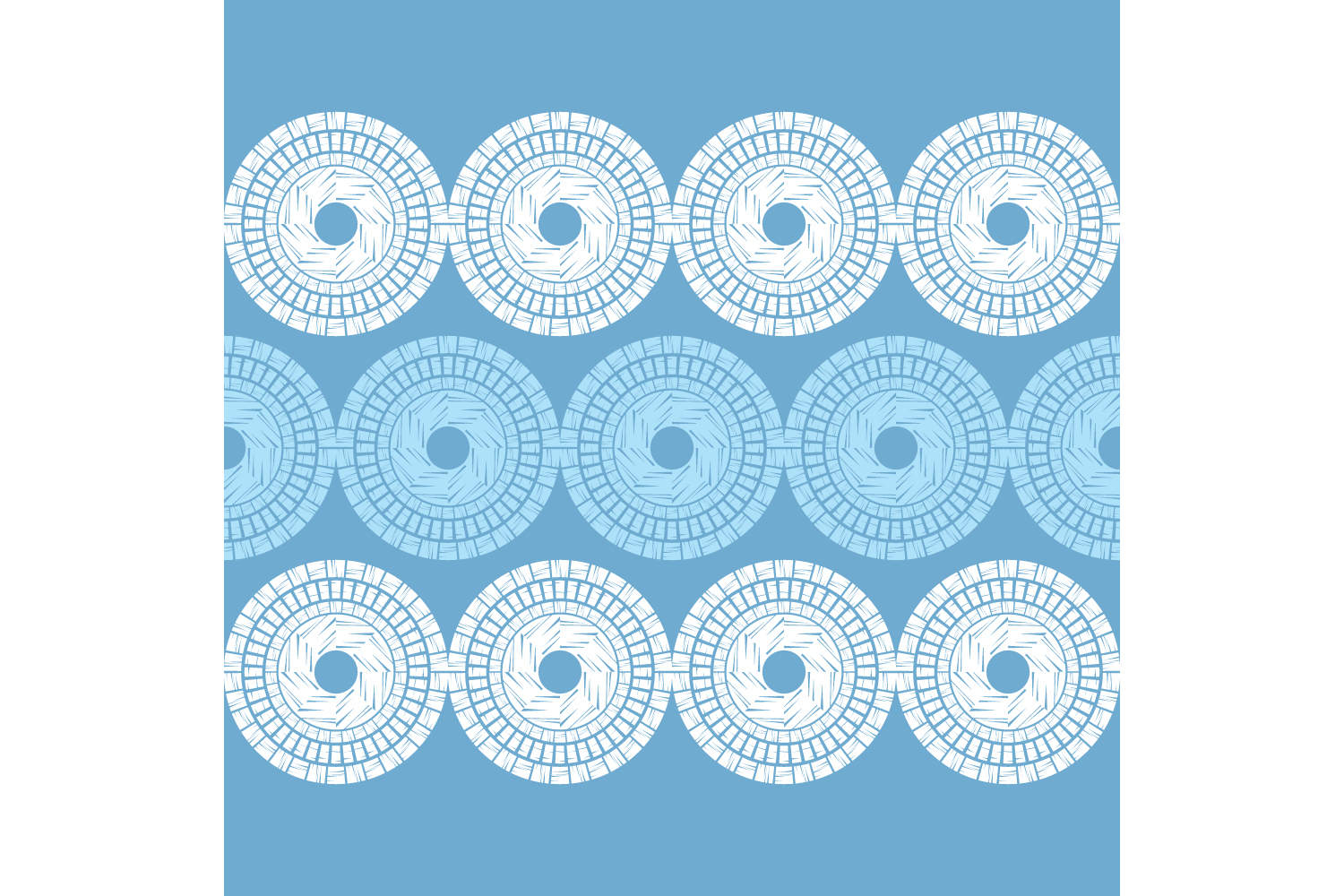 Polka dot ethnic ornament. Set of 10 seamless patterns. example image 7