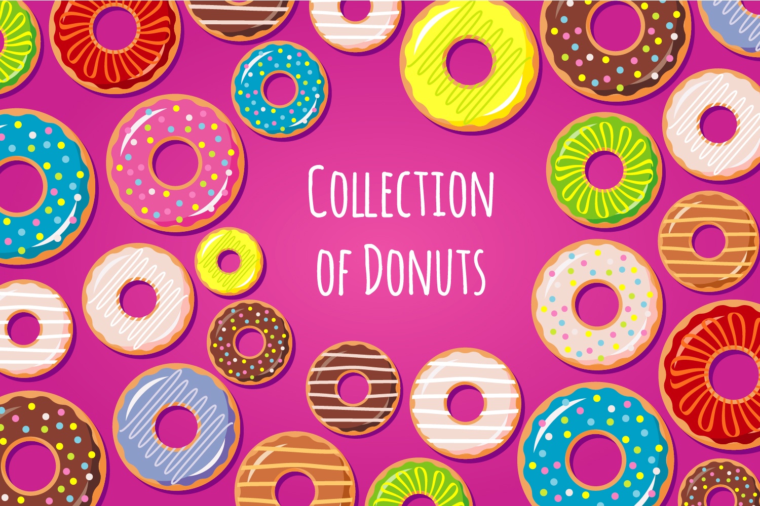 Collection Of Donuts example image 1