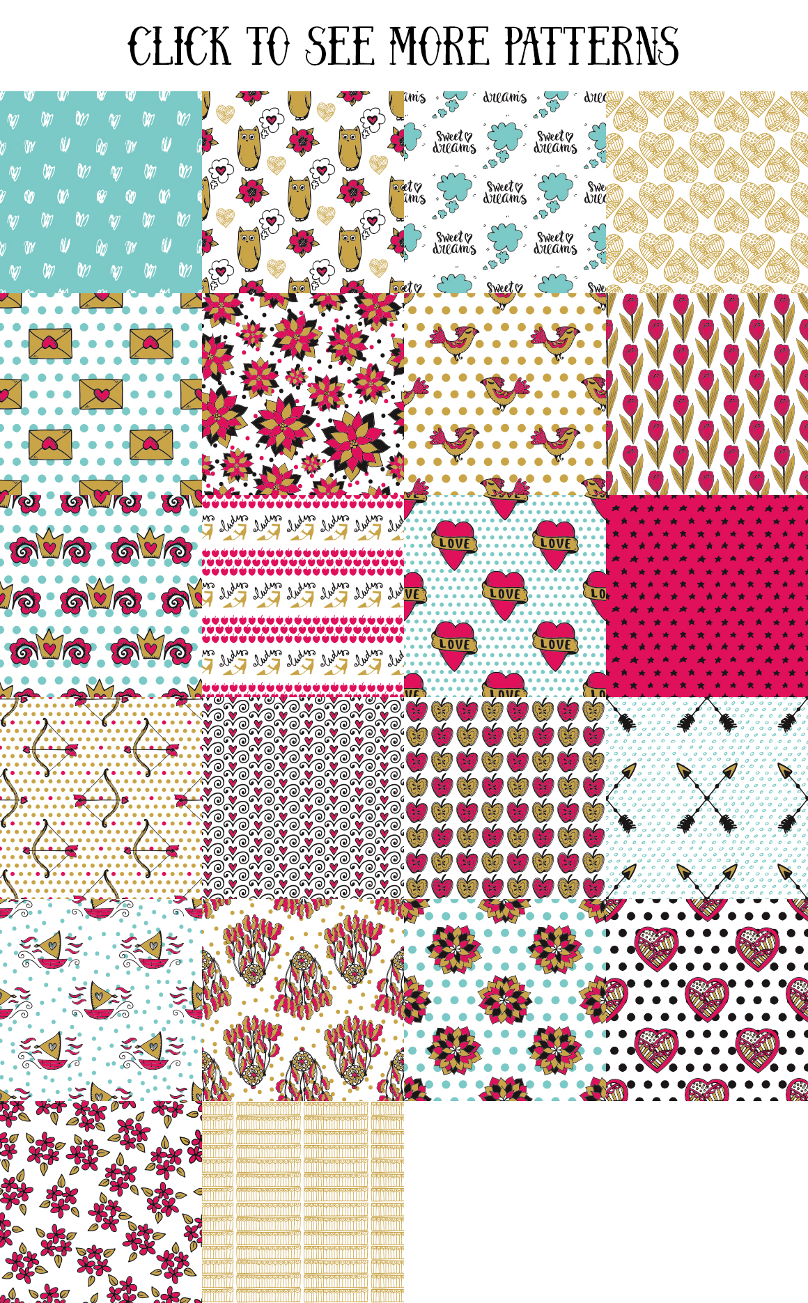 70 Valentine's Day Seamless Patterns example image 4