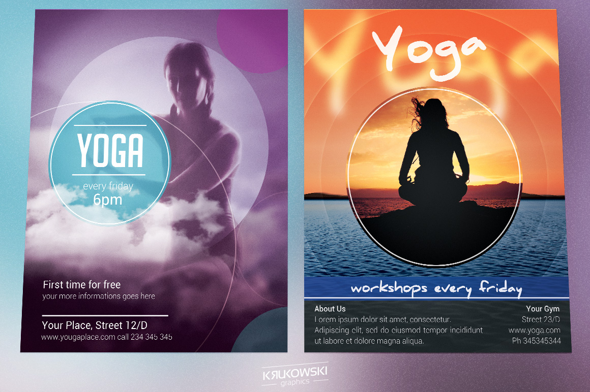 Yoga Flyers Bundle example image 2