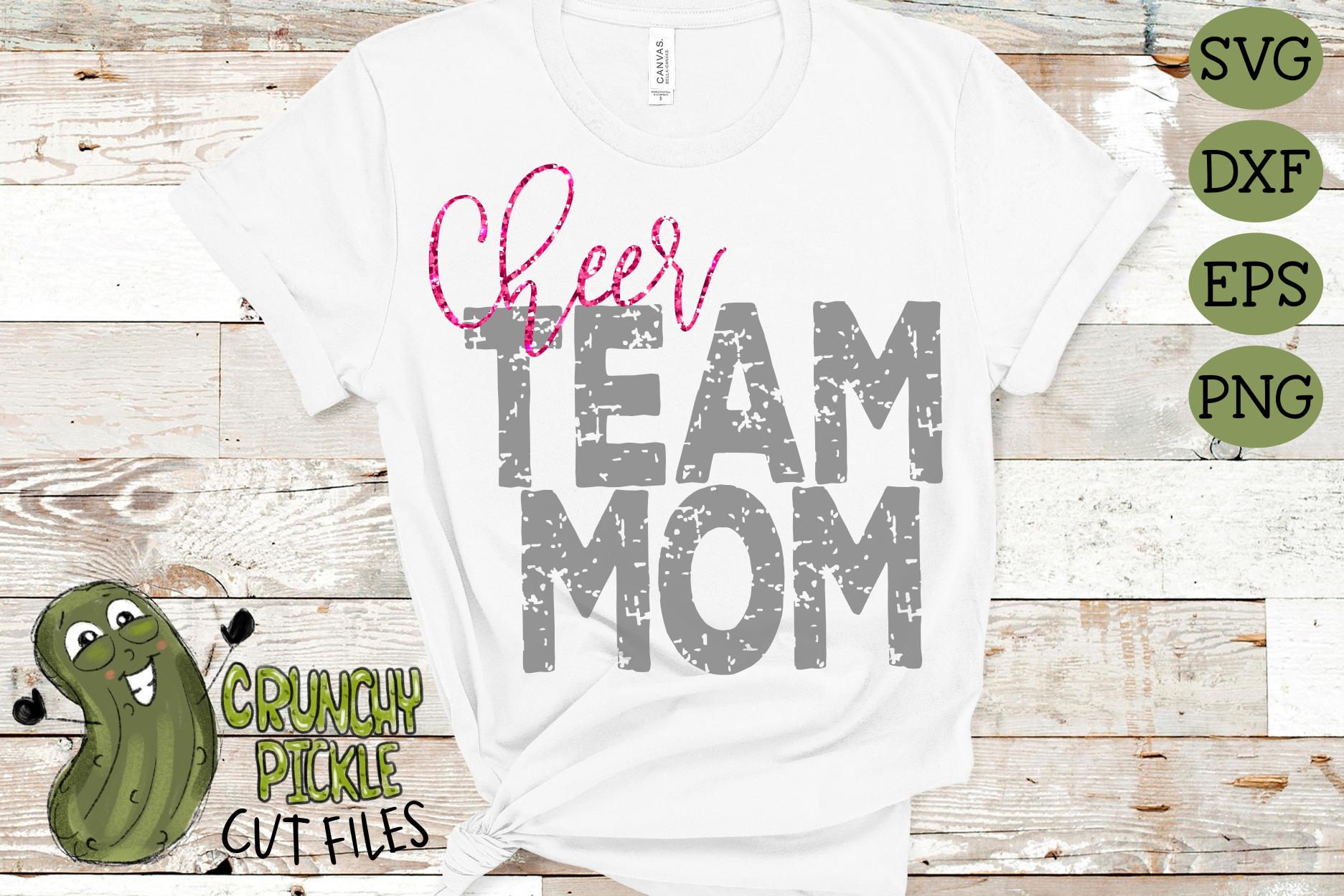 Cheer Mom & Bonus Team Cheerleader Mom Sports SVG Cut File example image 3