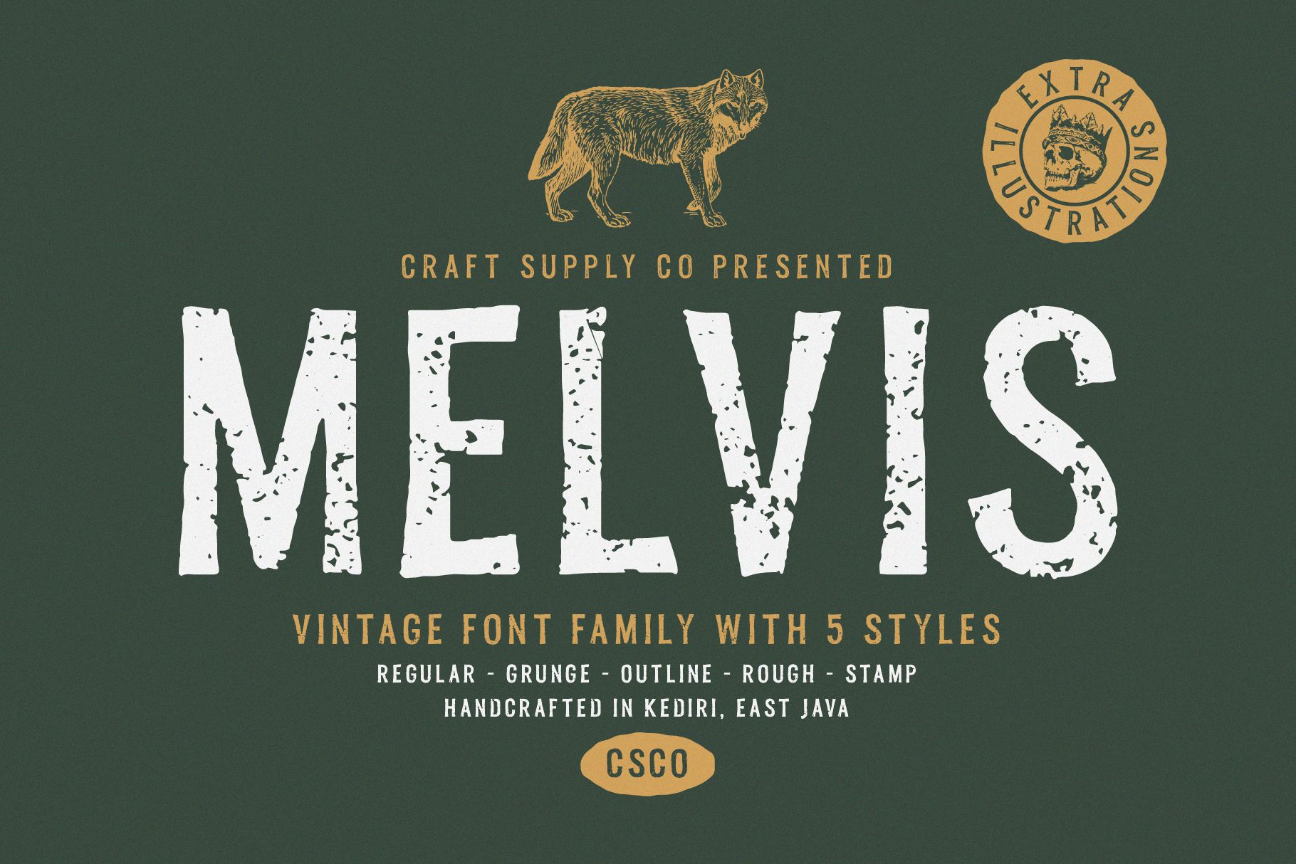 Melvis - Vintage Font Family Extras example image 1