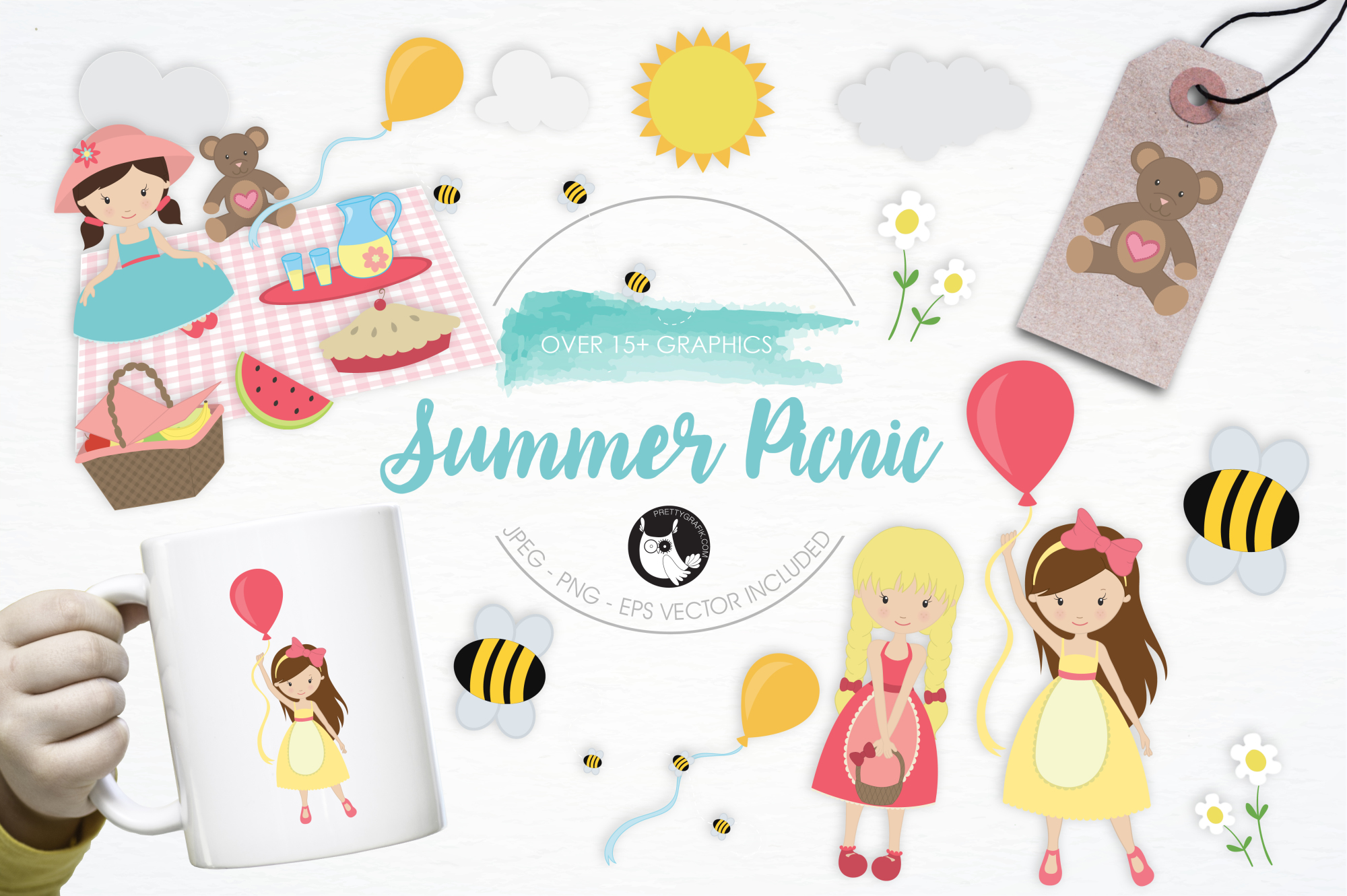 Summer Picnic graphics and illustrations example image 1