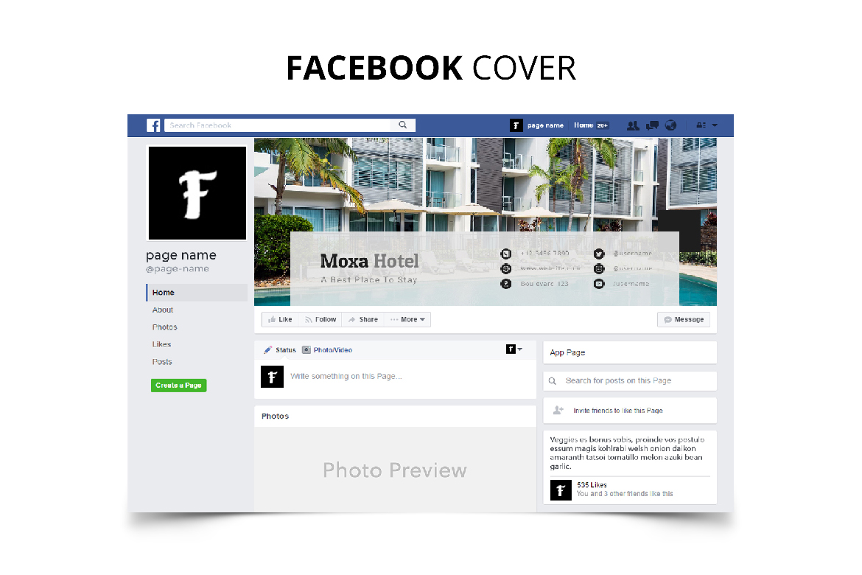Moxa Hotel Social Media Kit example image 4