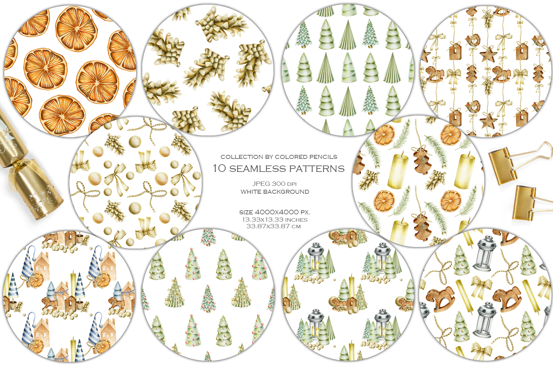 Perfect Christmas. 10 Christmas patterns. example image 2