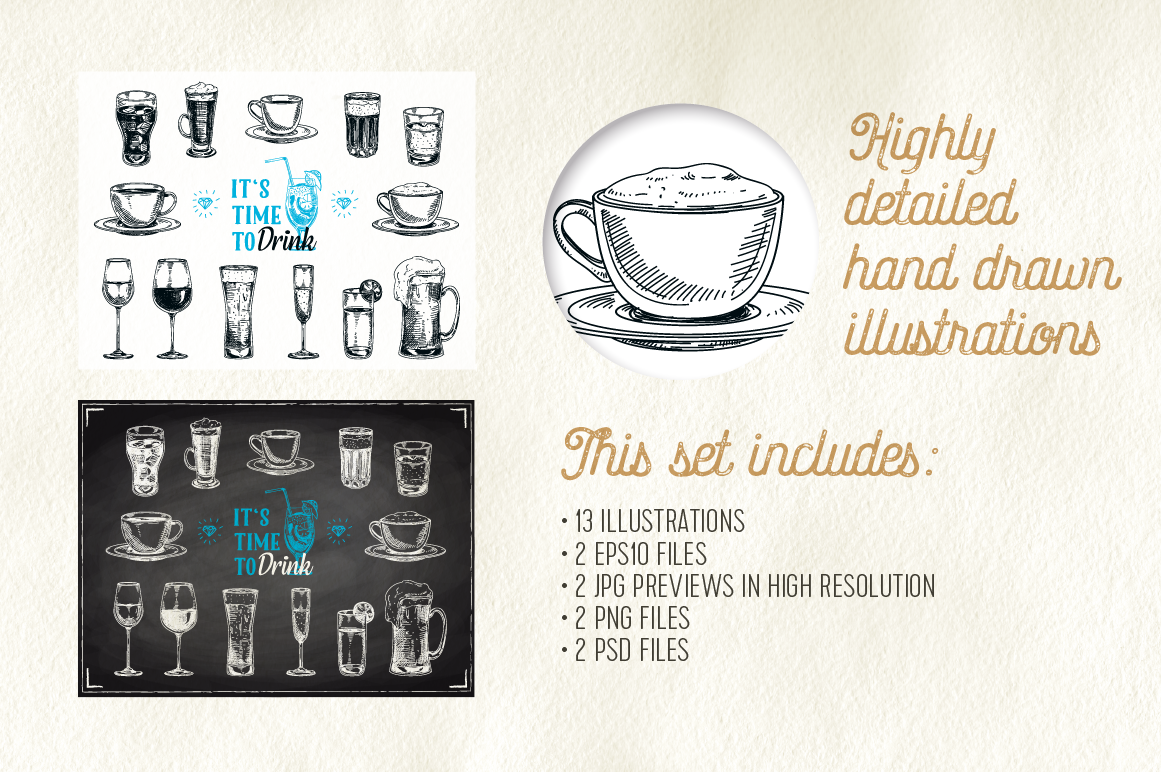 Hand drawn beverages example image 3