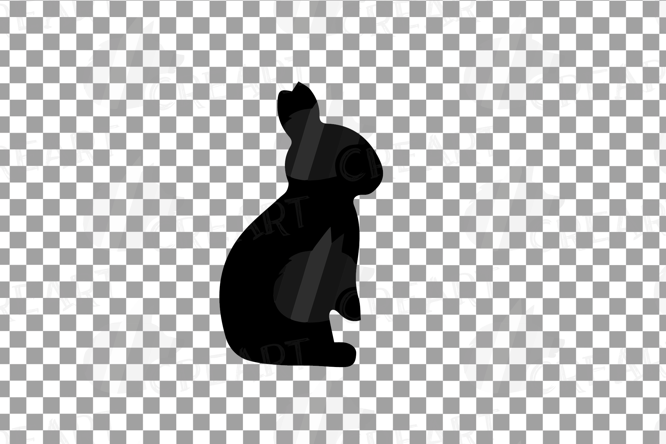 Rabbit family silhouettes, bunny silhouette svg cutting file example image 8