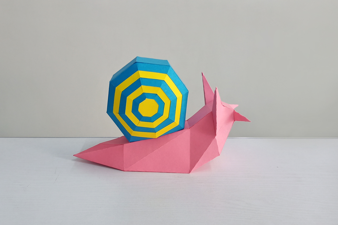 DIY Papercraft Snail,Paper Snail model,Printables,Paper toy example image 7