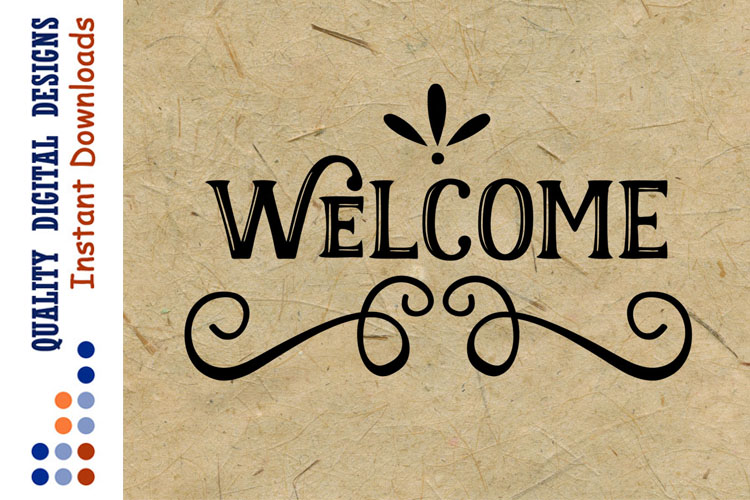 Welcome svg files Home svg House sign svg example image 1