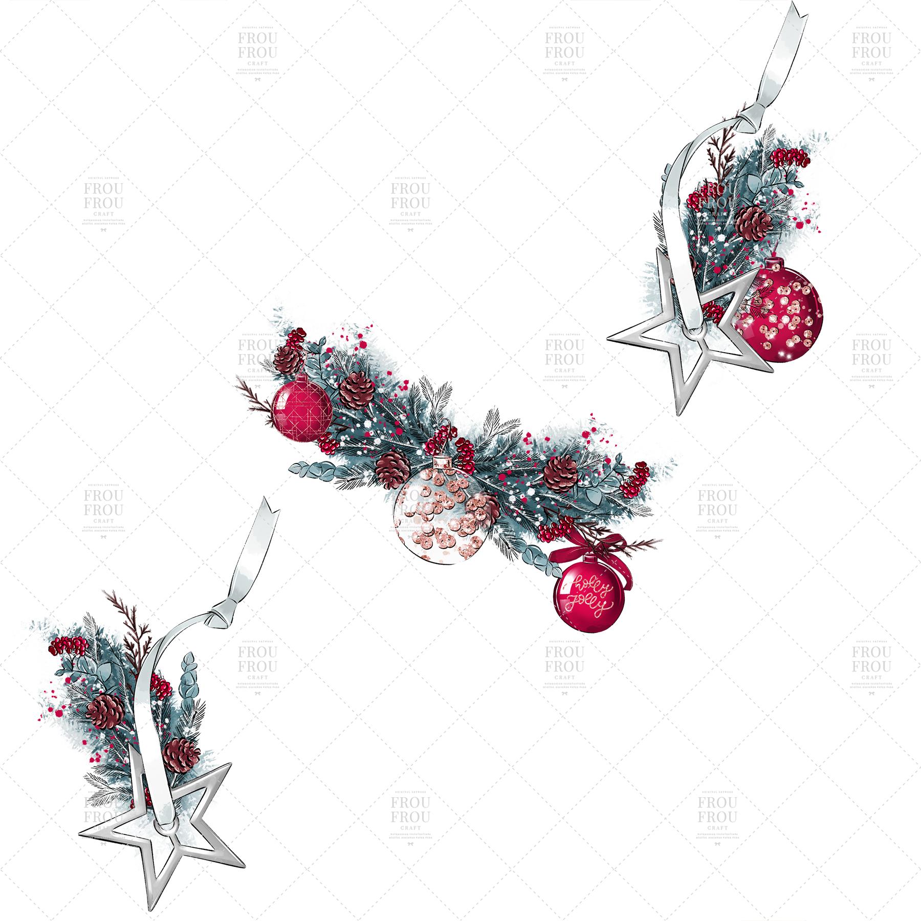 Christmas Tree Winter Present Gift Cozy Clip Art example image 6