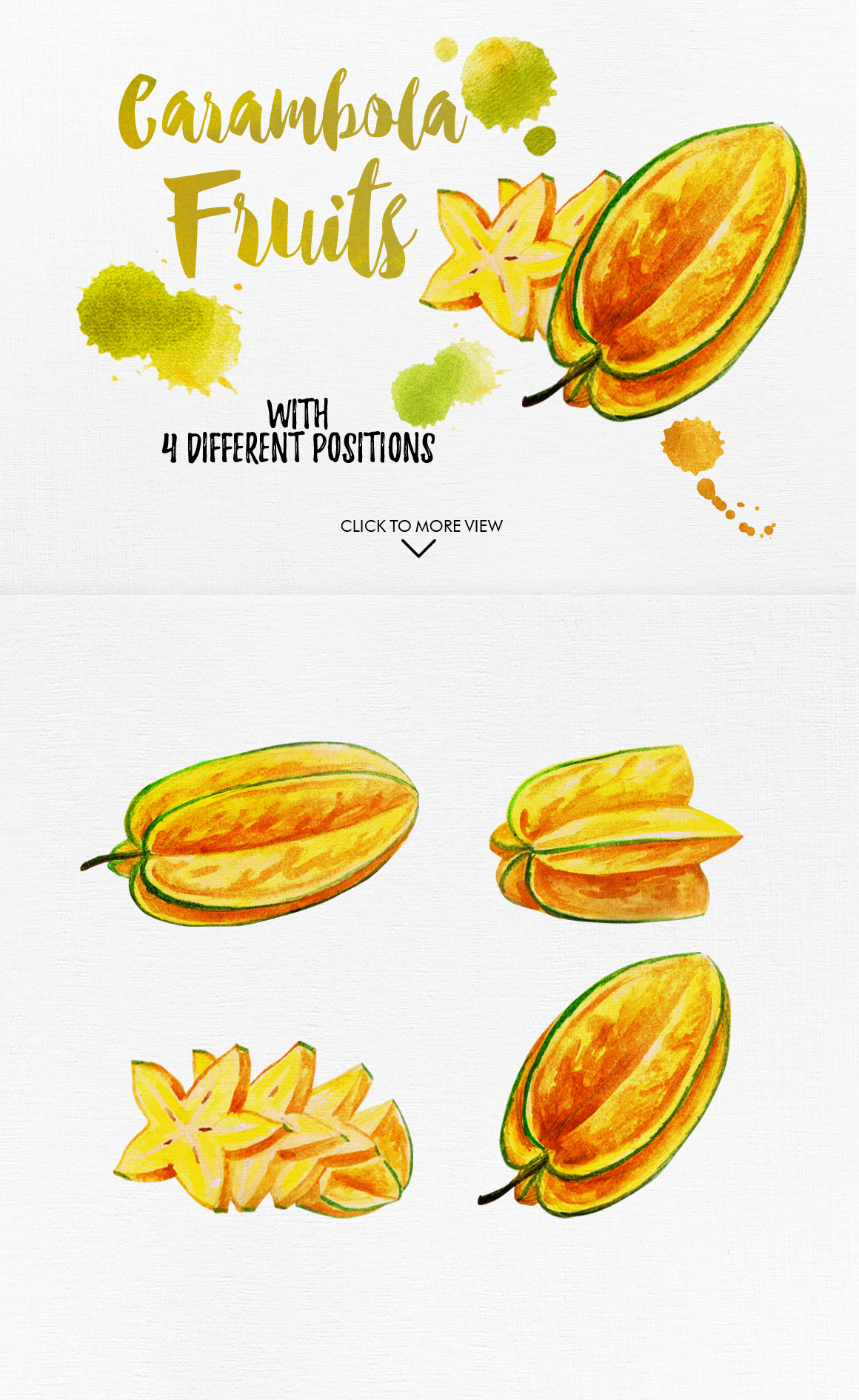 Watercolor Fruits Vol. 5 example image 4