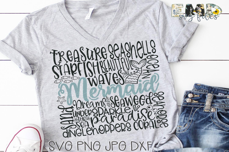 Mermaid Subway Art Svg File example image 2
