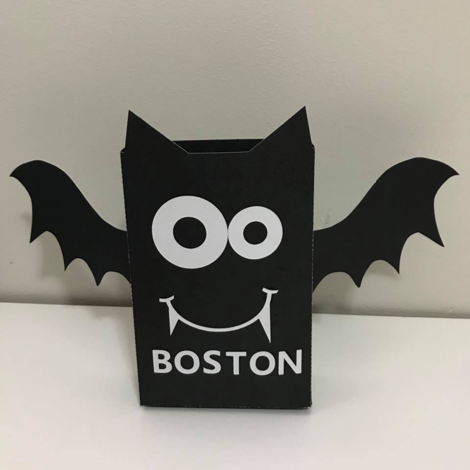 Halloween Treat Bag Paper Cutting Template SVG example image 2