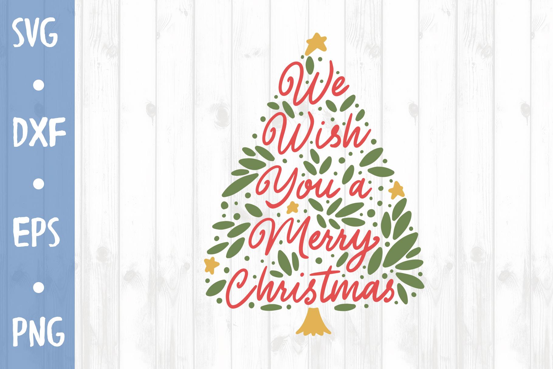 Christmas tree SVG CUT FILE example image 1
