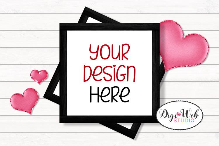 12 Valentine Mockups Bundle -Wood Signs, Pillows, Cards, Mug example image 4