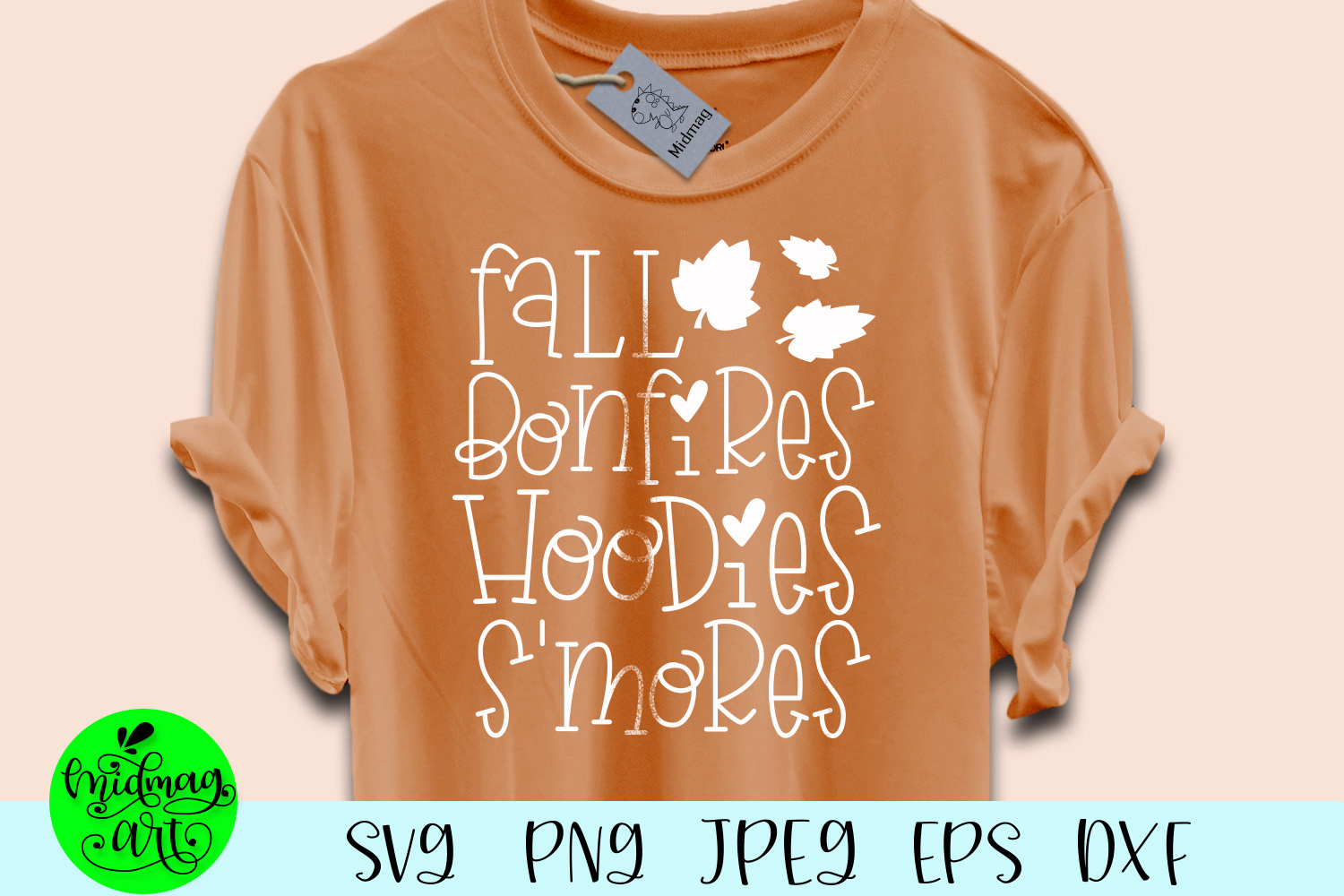 Fall bonfires hoodies s'mores svg, fall svg, example image 1