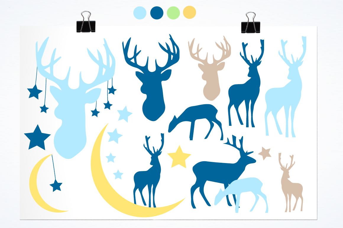 Nursery deers graphics and illustrations example image 2