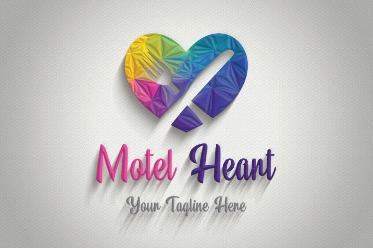 Heart Shape, Restaurant Logo example image 4