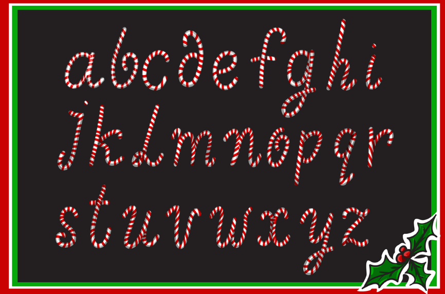 Christmas Candy alphabet. example image 2