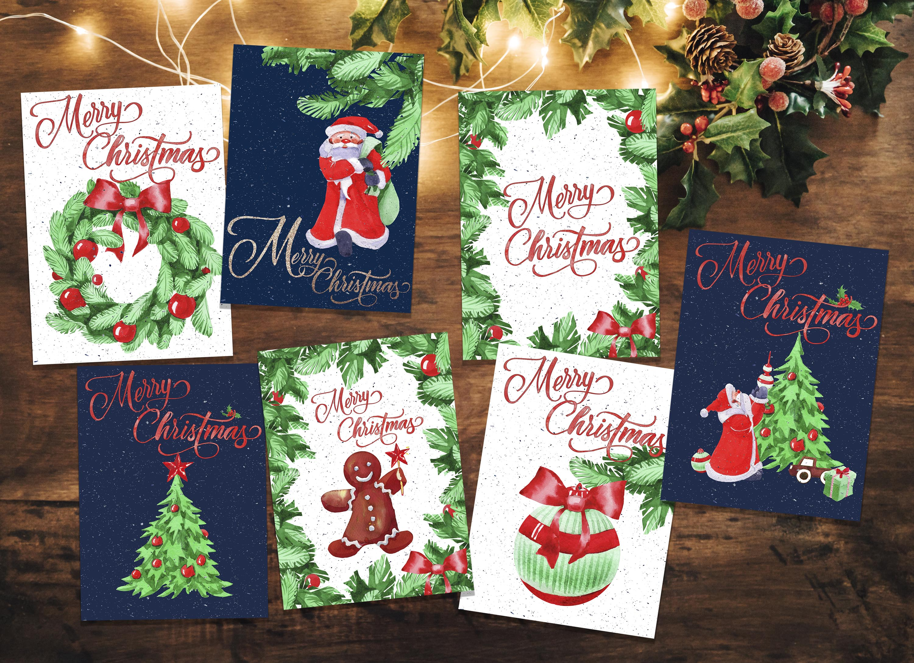 Christmas greeting cards example image 3