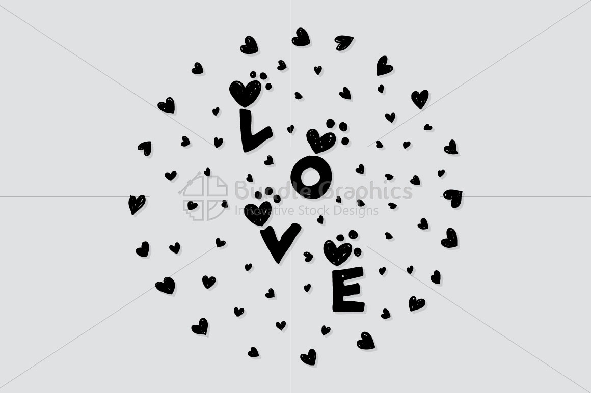 Love - Scribble Style  Freehand  Graphics example image 2